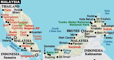 Malaysia Visa Map