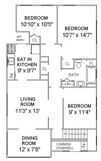 Floor Plan - Apartment for Rent Summit, NJ