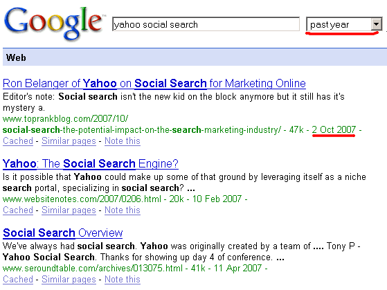 Google Shows the Indexing Date for Each Search Result