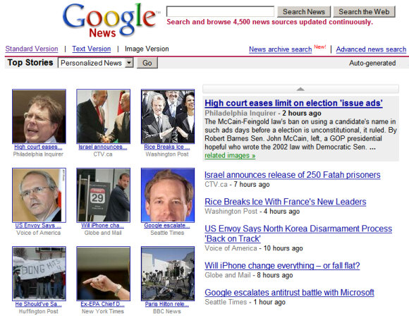 Google News in photos