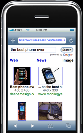google search for iPhone