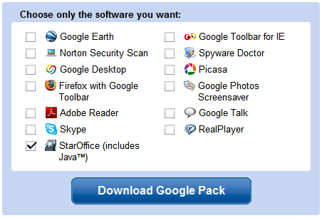 Google Pack crece