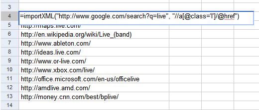 Import Html Data In Google Spreadsheets