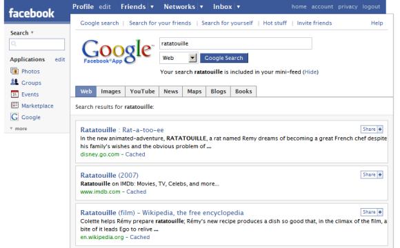 Google Facebook App
