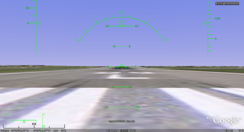Google Earth Easter Egg: Flight Simulator
