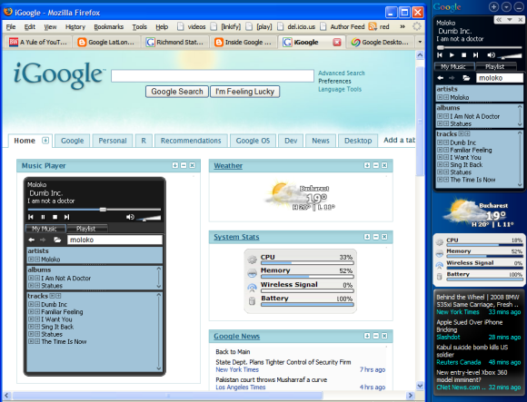 Google Desktop Gadgets on Your iGoogle Page