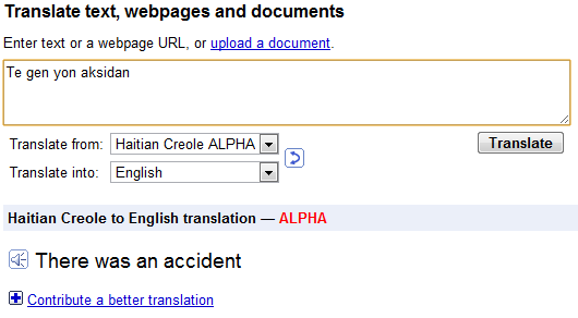 how to translate google to english