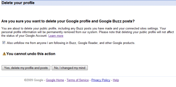 How to delete dating buzz profile