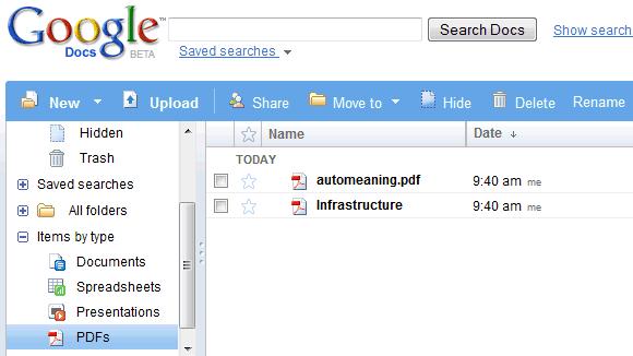Upload PDF Files to Google Docs