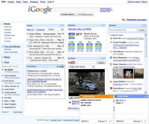 new igoogle