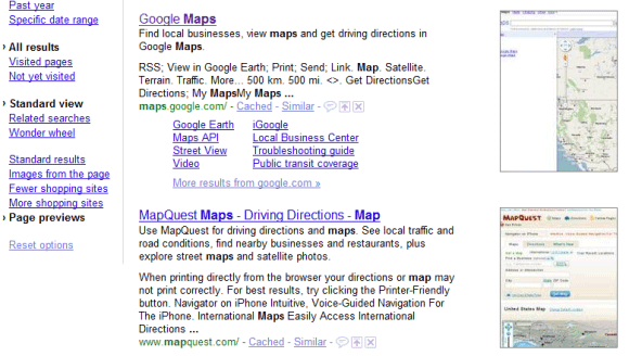 Preview Google's Search Results