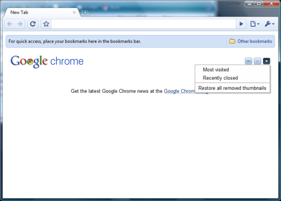 Disable Google Chrome's New Tab Page