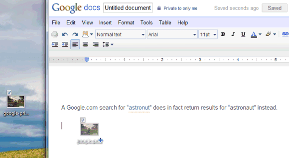 Google Docs Adds Drag-and-Drop Image Upload