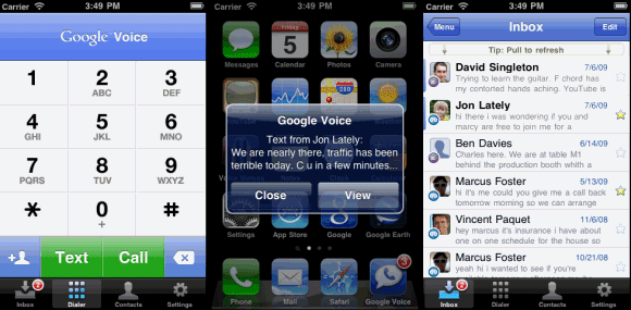 google voice for iphone voice iphone app 6916