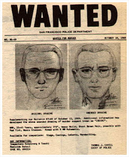 Wanted poster for Zodiac