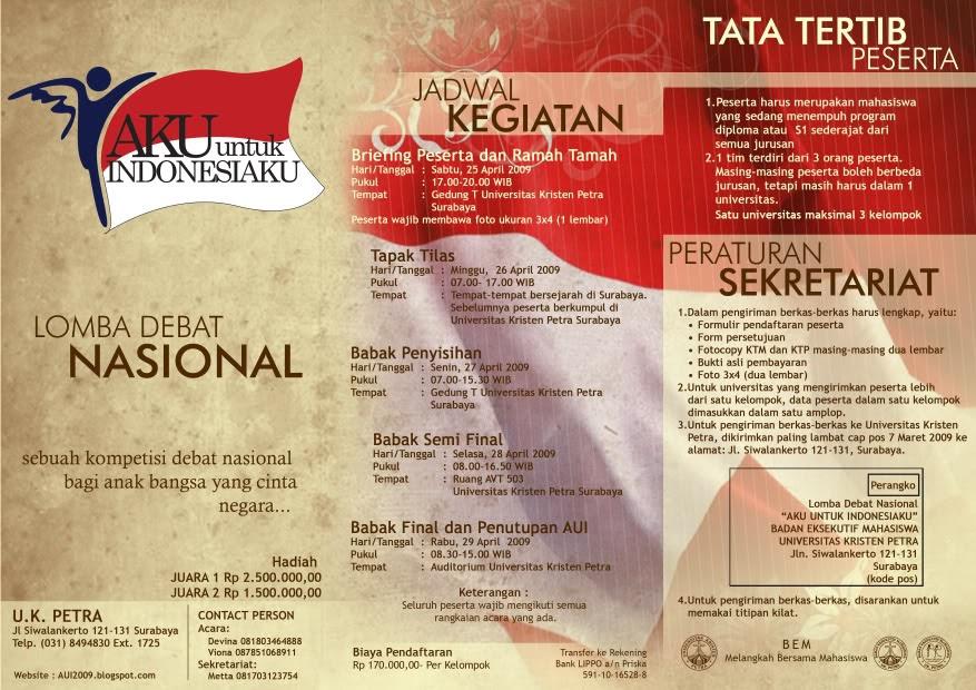Xen S Site Topik Topik Lomba Debat Nasional Aku Untuk Indonesiaku