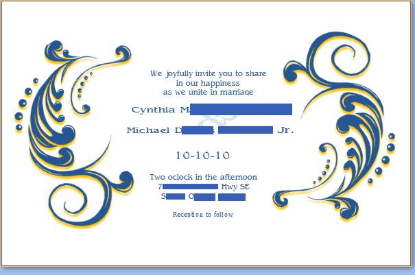 You Are Cordially Invited To The Wedding: Mikey And HisCB Cyndi: You Are Cordially Invited To Look