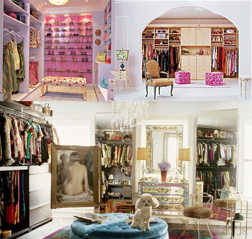 beautiful celebrity closets