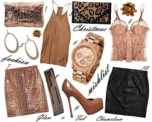 Christmas fashion wishlist rose gold items