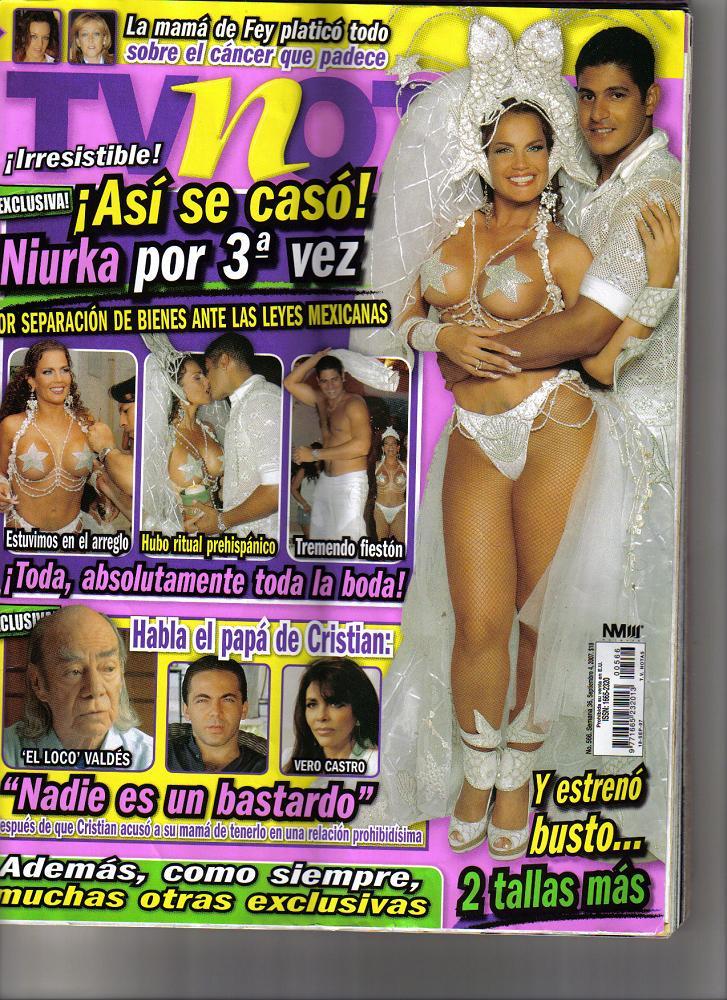Niurka en la portada de TVnotas
