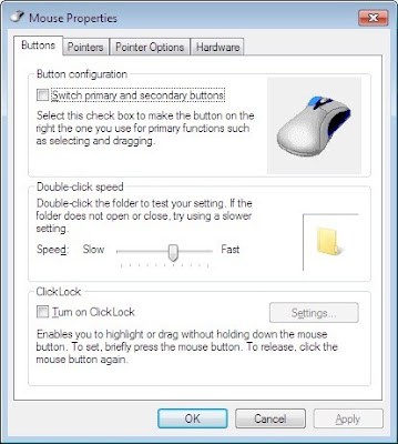 Swap mouse left right buttons functionality