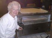 My Lovely 88 year old Mother that helped me build my Pizza Stand
