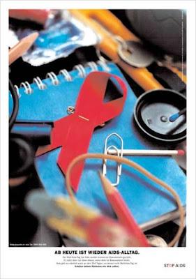 AB HEUTE IST WIEDER AIDS-ALLTAG.Der Welt-Aids-Tag hat Aids wieder einmal ins Bewusstsein gerückt. Er nützt aber nur dann etwas, wenn Aids im Bewusstsein bleibt. Aids gibt es nämlich auch an den 364 Tagen, an denen nicht Welt-Aids-Tag ist.Schütze deinen Nächsten wie dich selbst.