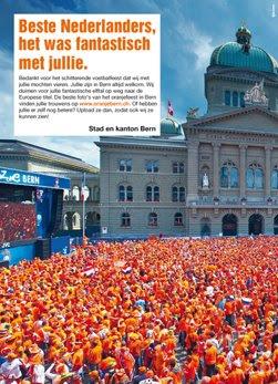Bern sagt «Merci». Anzeige im «Telegraaf».
