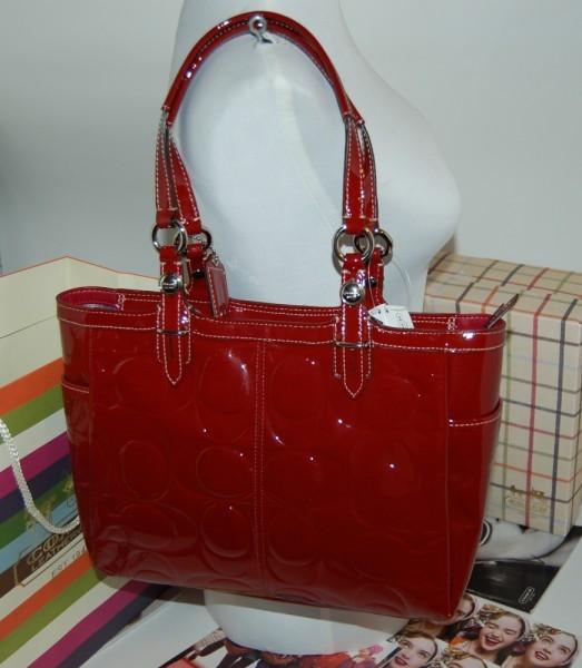 76c88e808bcb ... uk coach embossed patent leather gallery tote 0fdab 99e11
