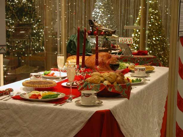 christmas feast table - photo #1