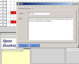 inserimento+note Nuovi screenshots del software