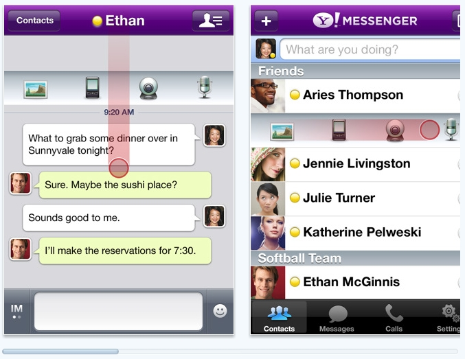 How to make video call on yahoo messenger