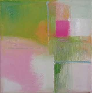 Pink And Green Abstract Art By Joshua Tree Painter Tina Bluefield