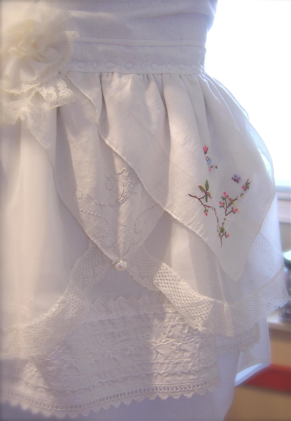 White lace apron wedding - Wednesday July 21 2010
