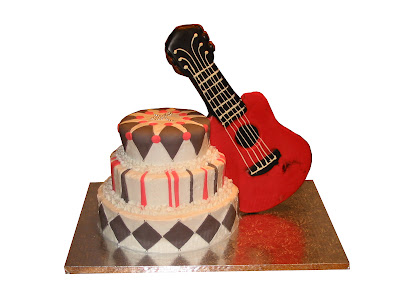 Happy Birthday Randy Guitar Cake