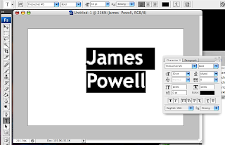Creating a business card photoshop tutorial