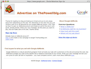 Adsense Onsite Advertiser Sign-Up