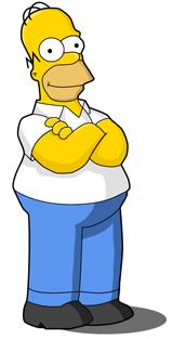 Great design drawing homer simpson in illustrator - Homer simpson tout nu ...