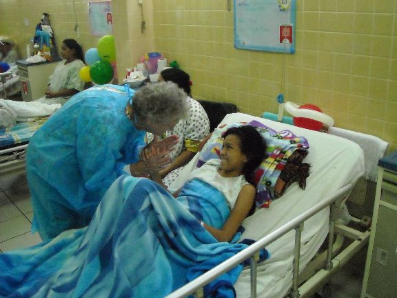 Melba at cancer ward