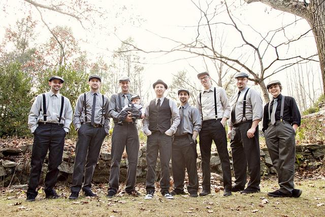 """Groomsmen  Suspenders and """"golf hats"""" e0bae1f42e4"""