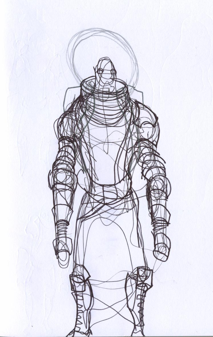 space suit drawing - photo #4
