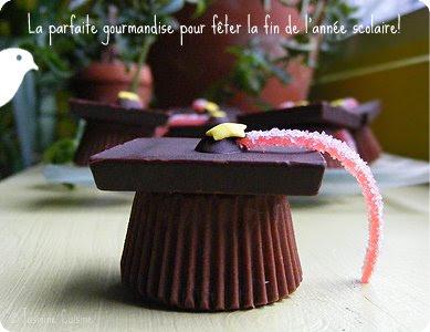 dernières tendances rabais de premier ordre super qualité Chapeaux de graduation en chocolat... et félicitations Katia ...
