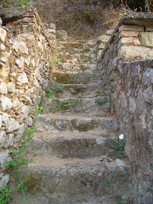 medieval village steps in southern Italy