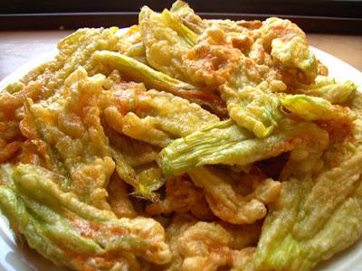 fried zucchini flowers