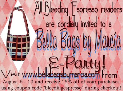 bella bags by marcia e-party invite