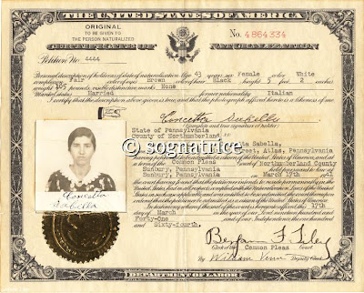 Great-grandmother's US Citizenship Certificate