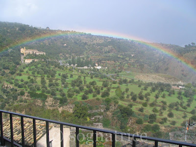 rainbow in calabria