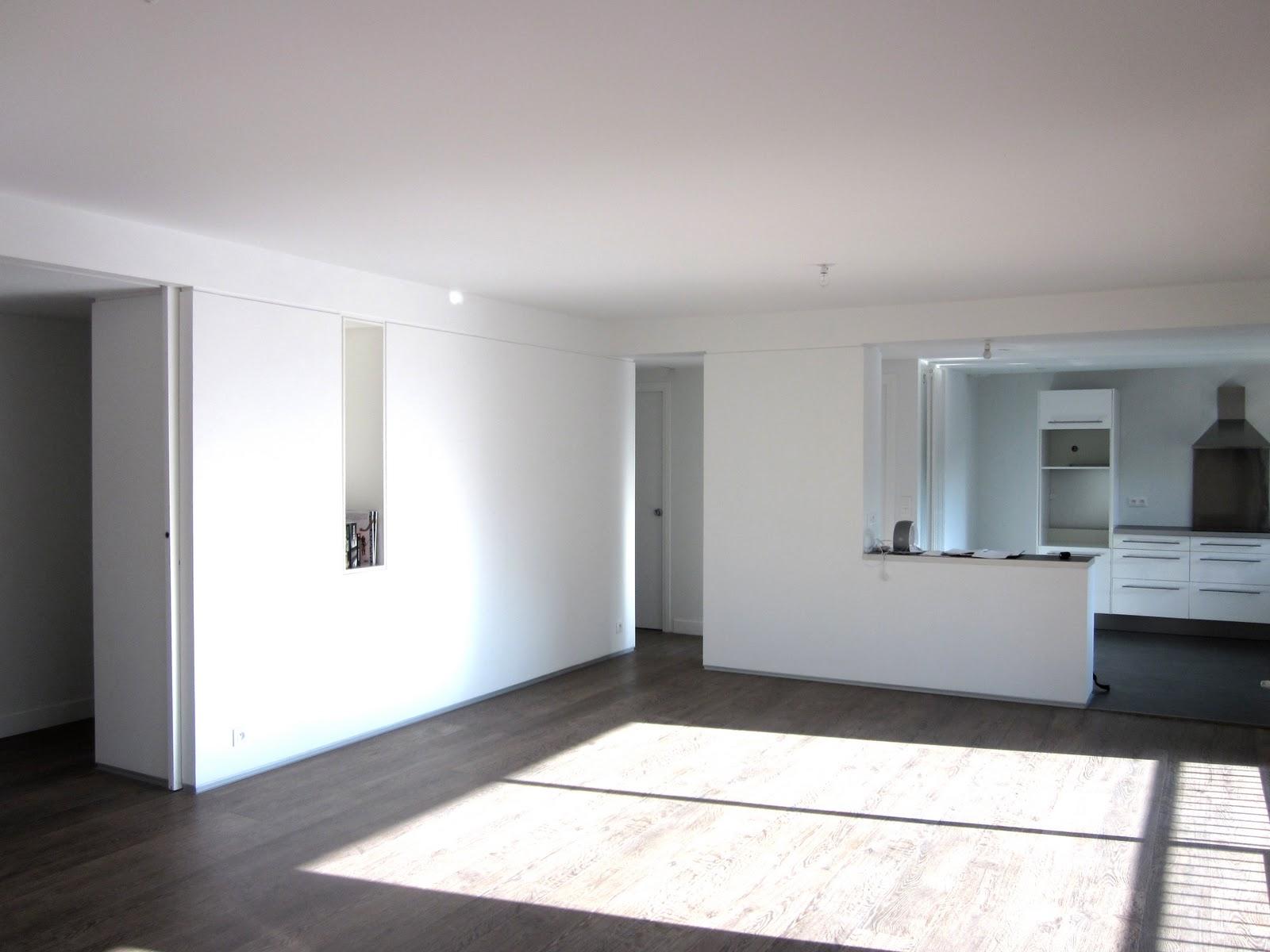 peindre mur en blanc deco peinture escalier bois. Black Bedroom Furniture Sets. Home Design Ideas