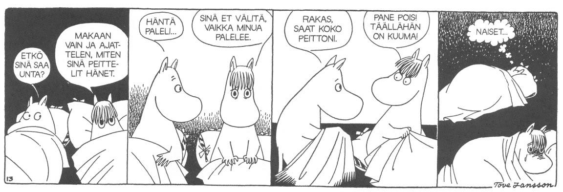 Kirjainten virrassa: Karkeloi kansa ja kunnailla soi, muumeilta elämää oppia voi..