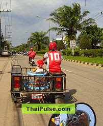 Driving in Thailand: Motorbike, car, trucks heirarchy